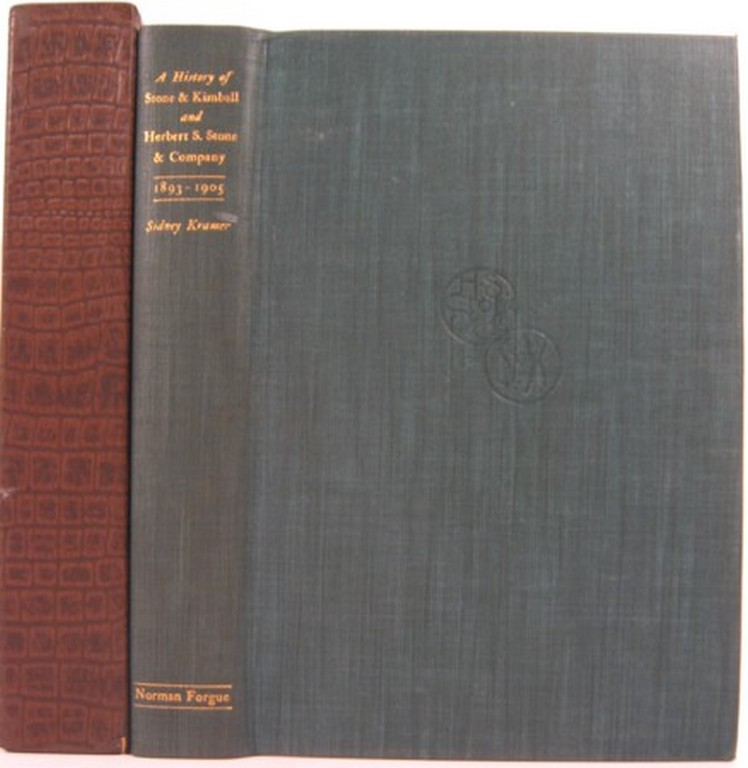 A HISTORY OF STONE & KIMBALL AND HERBERT S. STONE & CO. WITH A BIBLIOGRAPHY OF THEIR PUBLICATIONS 1893-1905. Sidney Kramer.