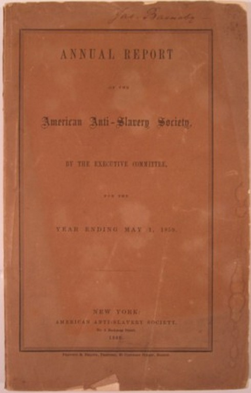 ANNUAL REPORT. American Anti-Slavery Society.