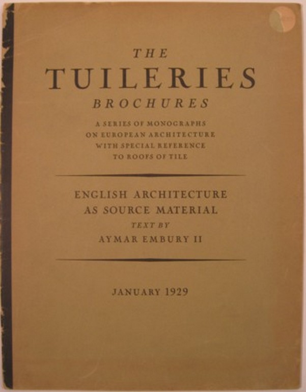 THE TUILERIES BROCHURES. Vol. I-IV. William Dewey Foster, ed.