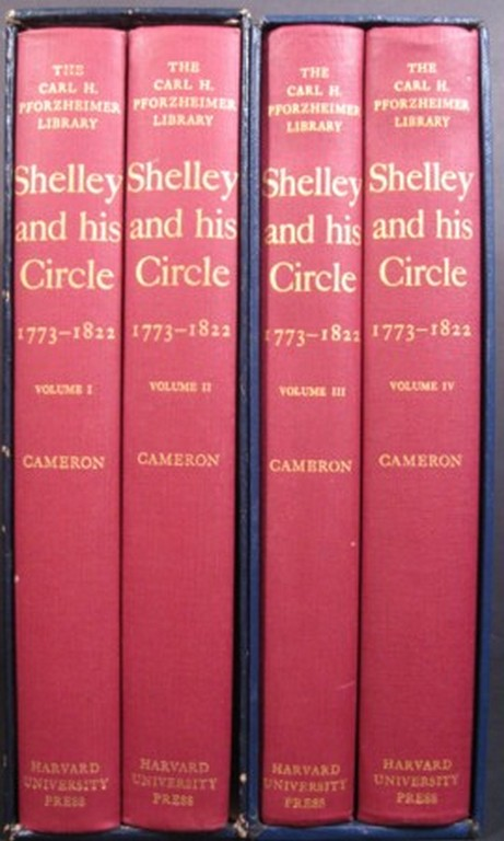 SHELLEY AND HIS CIRCLE 1773-1822. Volumes 1-4. Kenneth Neill Cameron.