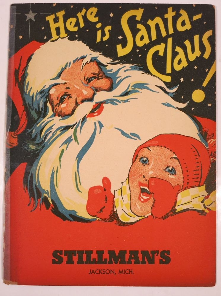 HERE IS SANTA CLAUS! Christmas advertising booklet.
