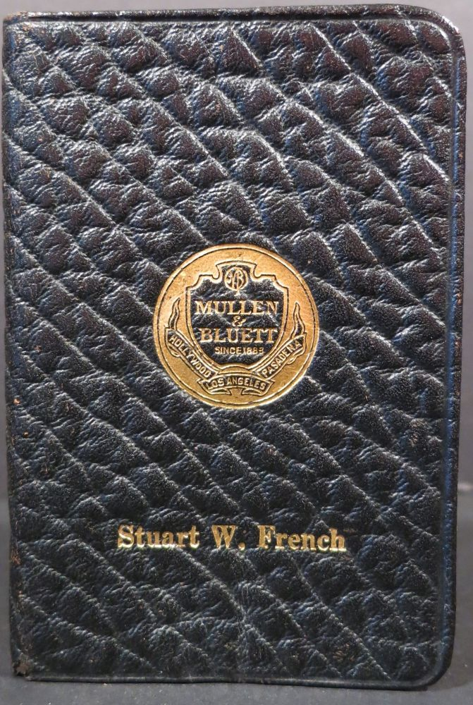 Pocket Memoranda Book. Mullen, Bluett Clothiers.
