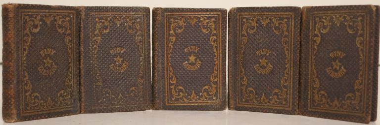 AUNT ROSE AND HER NIECES; DEW-DROPS; THE LIFE OF GENERAL TOM THUMB; DAILY MANNA; THE HOLY BIBLE. THE TINY LIBRARY, Five Volumes.