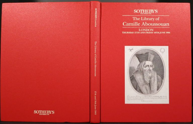 THE LIBRARY OF CAMILLE ABOUSSOUAN. Camille Aboussouan, Sotheby's.