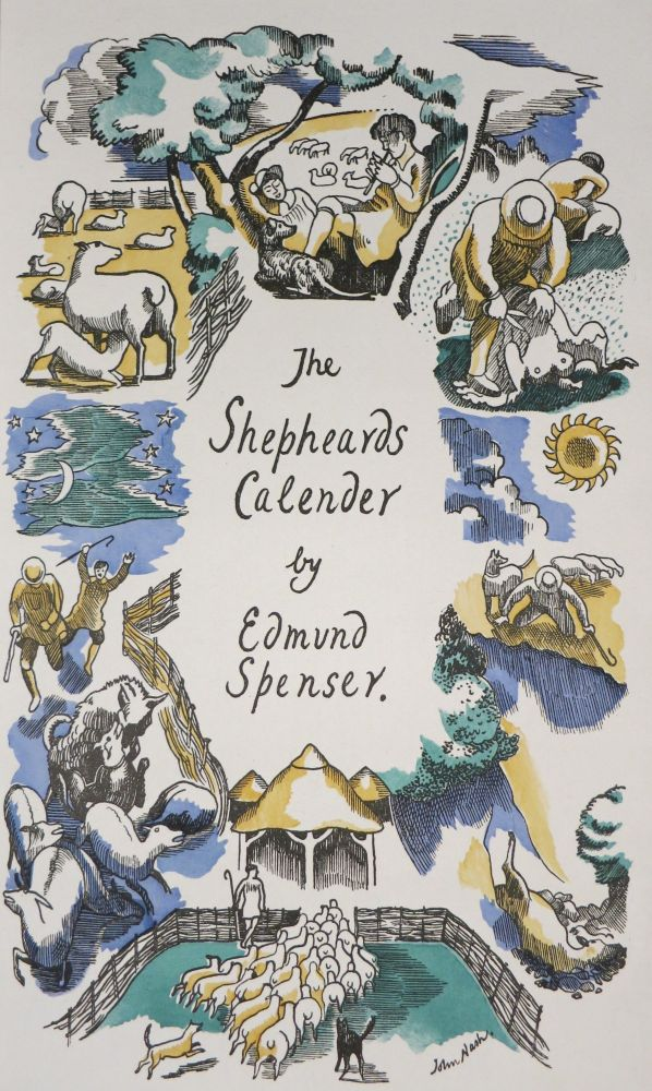 THE SHEPHEARDES CALENDER, CONTEYNING TWELVE AEGLOGUES PROPORTIONABLE TO THE TWELVE MONTHES. Edmund Spenser.