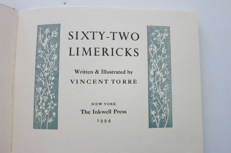 SIXTY-TWO LIMERICKS. Vincent Torre.
