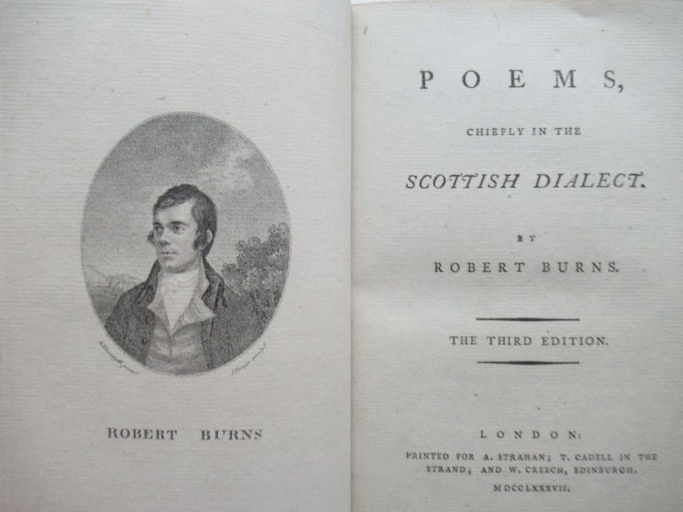 POEMS, CHIEFLY IN THE SCOTTISH DIALECT. Robert Burns.