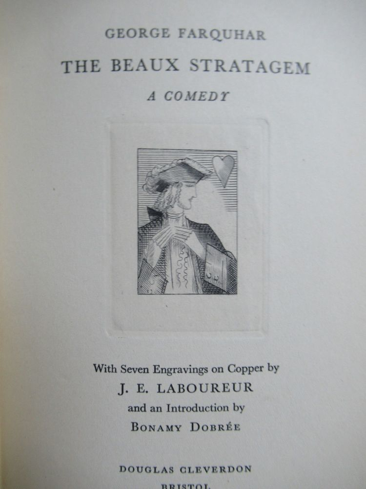 THE BEAUX STRATAGEM, A COMEDY. George Farquhar.