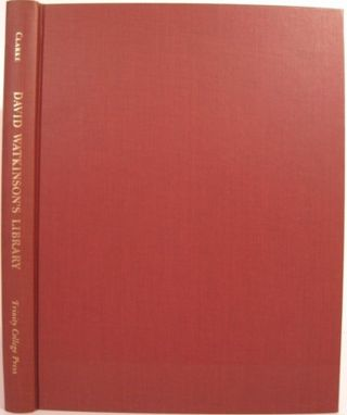 DAVID WATKINSON'S LIBRARY, ONE HUNDRED YEARS IN HARTFORD CONNECTICUT 1866 - 1966. Marian G. M....