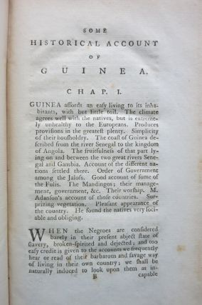 SOME HISTORICAL ACCOUNT OF GUINEA... WITH AN INQUIRY INTO THE RISE AND PROGRESS OF THE SLAVE TRADE, ITS NATURE, AND LAMENTABLE EFFECTS.
