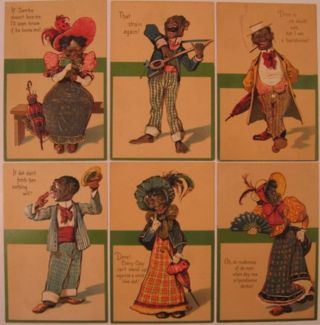 Set of six post cards