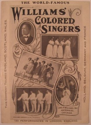 AMERICAN FOLK-SONGS AS SUNG BY WILLIAMS' COLORED SINGERS. Williams' Colored Singers