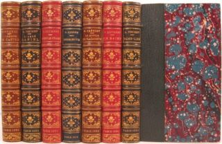 L'ABBESSE DE CASTRO [with six other French books in companion bindings]. Stendahl, Marie Henri Beyle