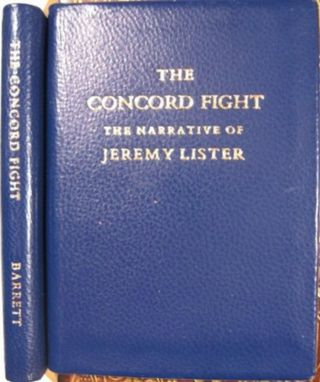 THE CONCORD FIGHT. Amos Barrett, Lister Jeremy