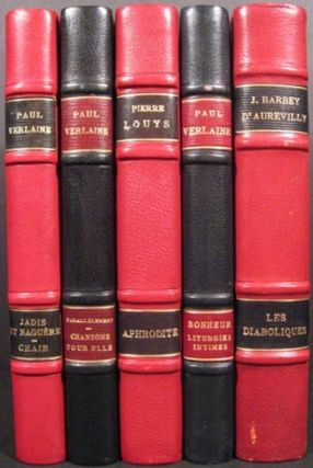 "COLLECTION BALDI ""LES CONTEMPORAINS"" J. Barbey D'Aurevilly, Paul Verlaine, Pierre Louys"