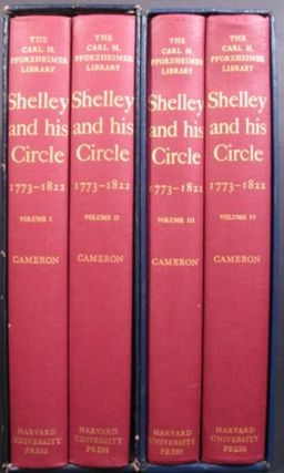 SHELLEY AND HIS CIRCLE 1773-1822. Volumes 1-4. Kenneth Neill Cameron