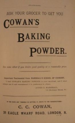 MRS A. B. MARSHALL'S LARGER COOKERY BOOK OF EXTRA RECIPES. DEDICATED BY PERMISSION TO H. R. H. PRINCESS CHRISTIAN.