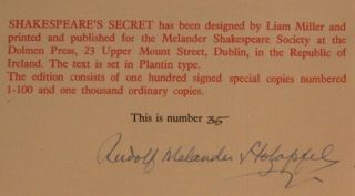 SHAKESPEARE'S SECRET: