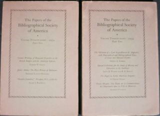 PAPERS OF THE BIBLIOGRAPHICAL SOCIETY OF AMERICA (4 issues from the 1930's).