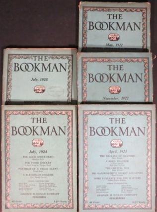THE BOOKMAN. 5 issues. 1922-25. John Farrar, ed