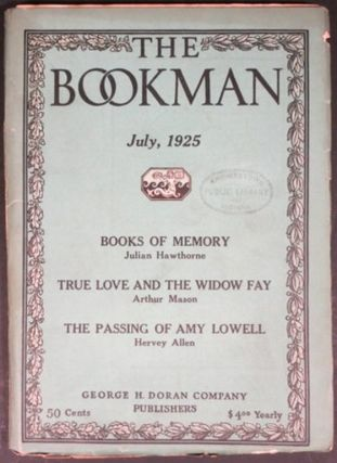 THE BOOKMAN. 5 issues. 1922-25.