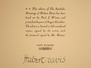 THE SYMBOLIC DRAWINGS OF HUBERT DAVIS FOR AN AMERICAN TRAGEDY BY THEODORE DREISER.
