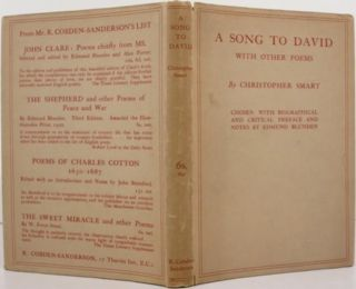 A SONG TO DAVID, WITH OTHER POEMS. Edmund Blunden, ed., Christopher Smart