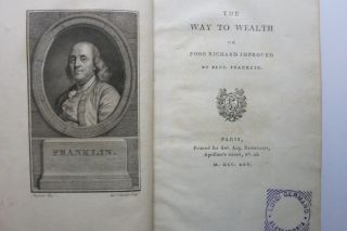 THE WAY TO WEALTH OR POOR RICHARD IMPROVED. (Title p. 33: LA SCIENCE DU BONHOMME RICHARD, OU...