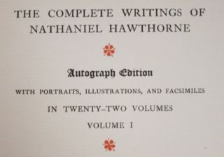 THE WRITINGS OF NATHANIEL HAWTHORNE.