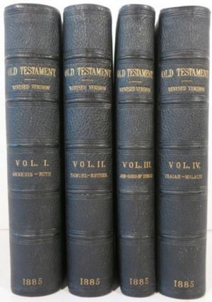 THE HOLY BIBLE CONTAINING THE OLD AND NEW TESTAMENTS [this Old Testament only] TRANSLATED OUT OF THE ORIGINAL TONGUES: