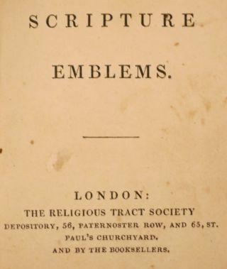 SCRIPTURE EMBLEMS. Religious Tract Society