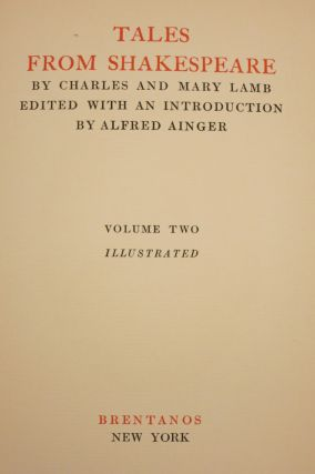 TALES FROM SHAKESPEARE... Edited with an Introduction by Alfred Ainger.