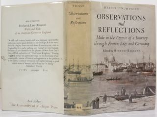 OBSERVATIONS AND REFLECTIONS MADE IN THE COURSE OF A JOURNEY THROUGH FRANCE, ITALY, AND GERMANY. Hester Lynch Piozzi.