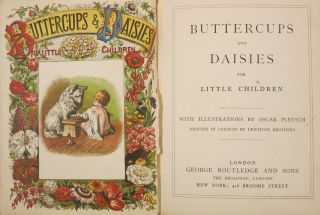 BUTTERCUPS AND DAISIES FOR LITTLE CHILDREN. Oscar Pletsch, L.