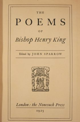 THE POEMS OF BISHOP HENRY KING.