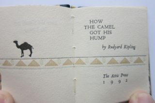 HOW THE CAMEL GOT HIS HUMP.