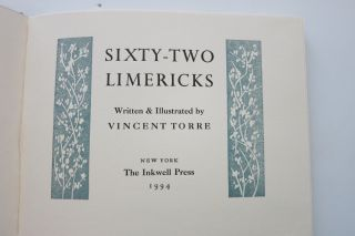 SIXTY-TWO LIMERICKS. Vincent Torre