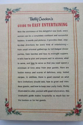 BETTY CROCKER'S GUIDE TO EASY ENTERTAINING.