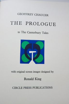 THE PROLOGUE TO THE CANTERBURY TALES. Ronald King, Geofftey Chaucer