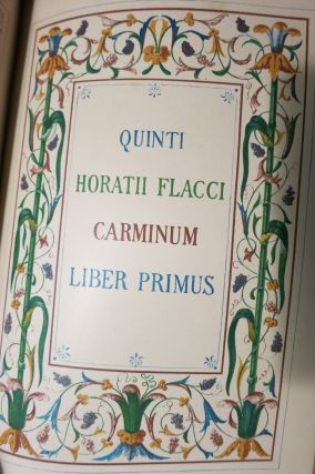 THE WORKS OF QUINTUS HORATIUS FLACCUS ILLUSTRATED CHIEFLY FROM THE REMAINS OF ANCIENT ART: