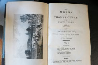 THE WORKS OF THOMAS OTWAY, CONSISTING OF HIS PLAYS, POEMS AND LETTERS. With A Sketch of His Life.