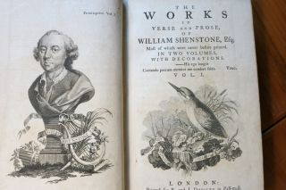 THE WORKS IN VERSE AND PROSE OF WILLIAM SHENSTONE, Esq; MOST OF WHICH WERE NEVER BEFORE PRINTED....