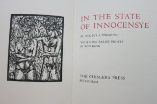 IN THE STATE OF INNOCENSYE. Jacobus A. Voragine