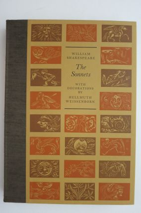 SHAKESPEARE'S SONNETS. William. Hellmuth Weissenborn Shakesperae, Engraver