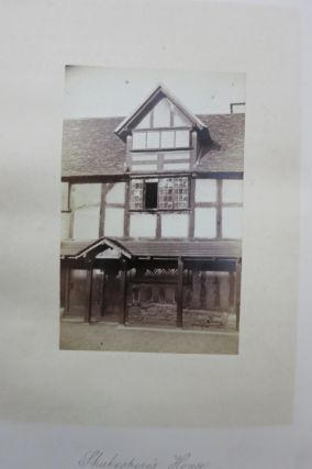 SHAKESPEARE; HIS BIRTHPLACE, HOME, AND GRAVE. A PILGRIMAGE TO STRATFORD-ON-AVON IN THE AUTUMN OF 1863.