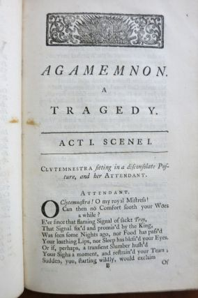AGAMEMNON. A TRAGEDY. ACTED AT THE THEATRE-ROYAL IN DRURY-LANE, BY HIS MAJESTY'S SERVANTS.