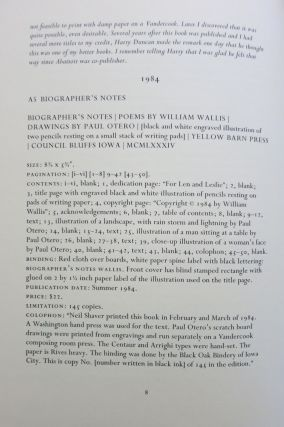 THE YELLOW BARN PRESS. A HISTORY AND BIBLIOGRAPHY.