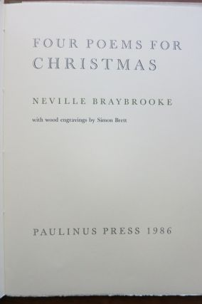 FOUR POEMS FOR CHRISTMAS. Neville Braybrooke
