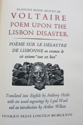 POEM UPON THE LISBON DISASTER. Lynd Ward, Francoise M. A. de Voltaire