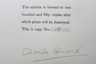 TWELVE ETCHINGS BY CHARLES HUARD. Cover title: Twelve Etchings Made on the Front.
